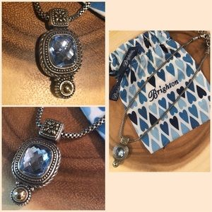 Brighton Faceted Blue Crystal Necklace